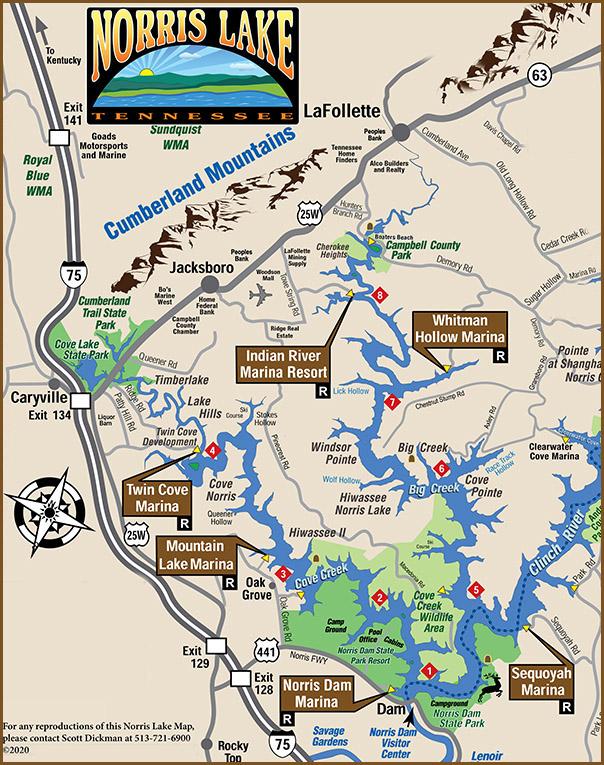 norris lake map tennessee Lake Maps Norris Lake norris lake map tennessee